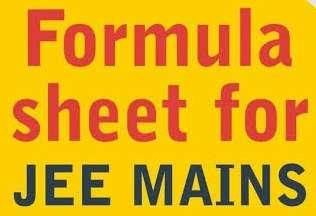 Jee Mains 2020 Formula Booklet Pdf Free Download Adarsh Barnwal