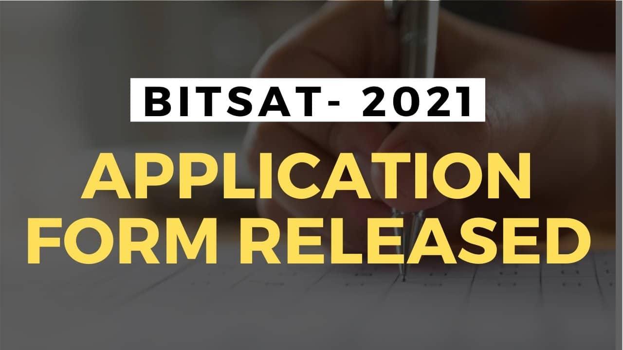 bitsat 2021 form fillup